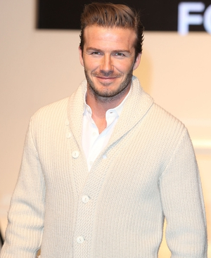 David Beckham at the launch in London