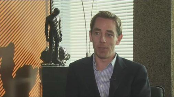 Ryan Tubridy the new presenter of 'The Late Late Show'.