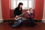 Miriam Tormley of Blow the Dust Off Your Trumpet Orchestra with her daughter Mia, Inspired by Shostakovich