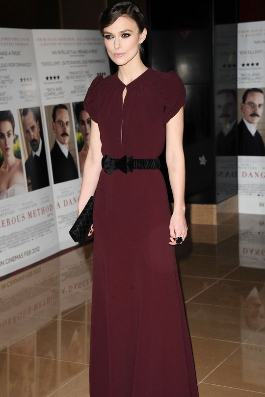 Keira Knightley impressed in Burberry at the premiere of her new film this we