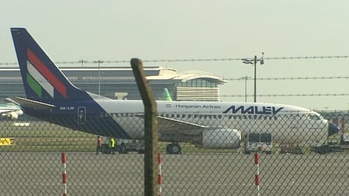 Malev plane grounded at Dublin airport