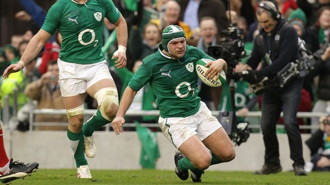 Rory Best scored for Ireland just before half-time