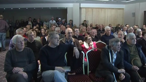 Hundreds attended a protest meeting in Galway tonight