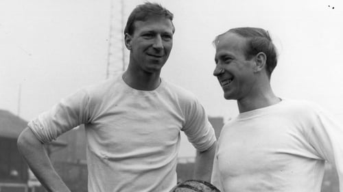 Jack Charlton (L) and brother Bobby