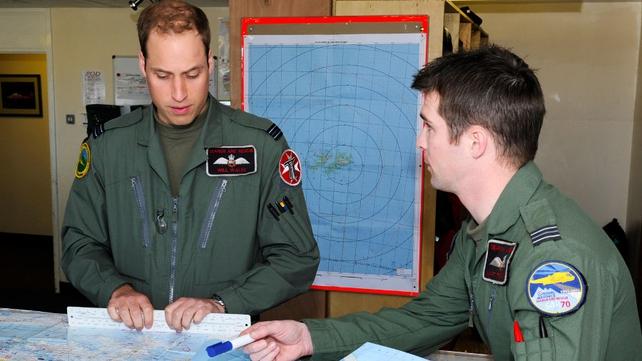 Prince William began his duties on the island last week