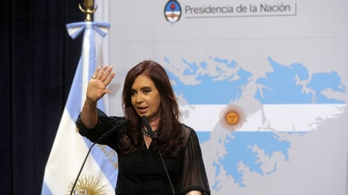 "Cristina Kirchner said Britain is ""militarising the south Atlantic"""