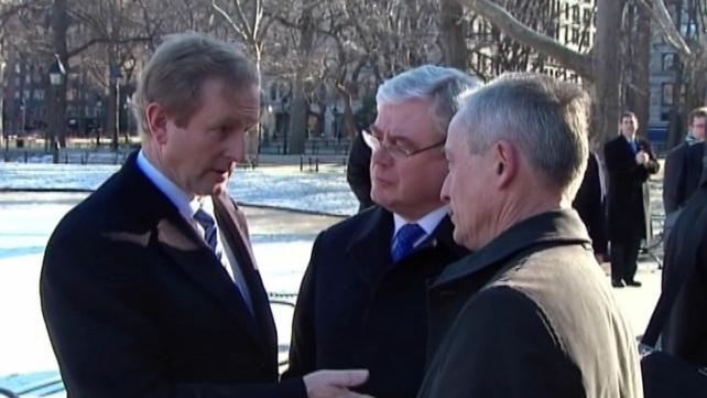Enda Kenny, Eamon Gilmore and Richard Bruton are in the US today to encourage trade