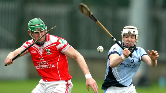 Loughiel Shamrocks (red) beat Na Piarsaigh after extra time in the AIB All-Ireland club semi-final