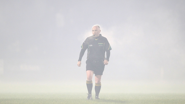 But the fog descended at McHale Park, and the match was called off