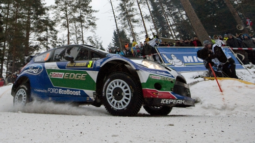 Jari-Matti Latvala holds a 23-second lead in Sweden