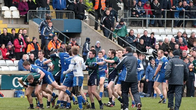 But a brawl at half-time marred the Division 2 clash