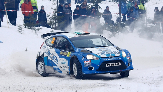 Craig Breen finished second in the Super S2000 World Rally Championship