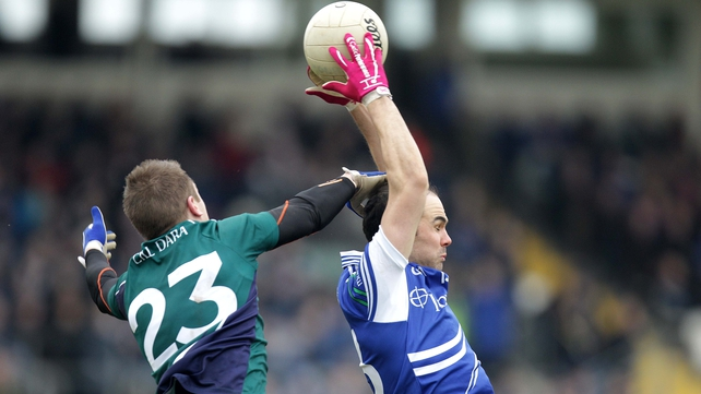 Paul Finlay fields - some good football was played in the Division 2 clash between Kildare and Monaghan