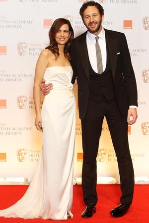 Bridesmaids co-stars Kirsten and Chris