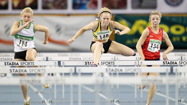 Derval O'Rourke finished fourth in her 60m heat