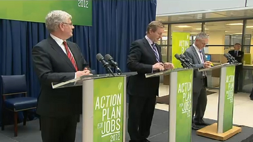 Taoiseach, Tánaiste and Minister for Jobs launching jobs plan this afternoon
