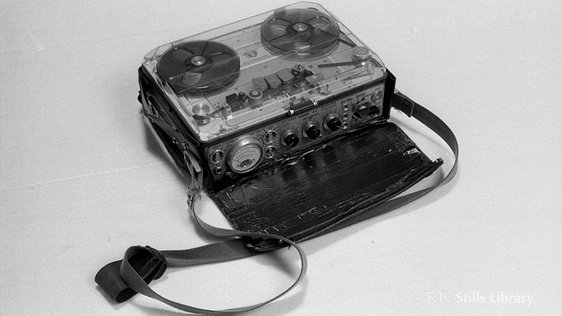 A Nagra reel to reel tape recorder. © RTÉ Stills Library 2270/071