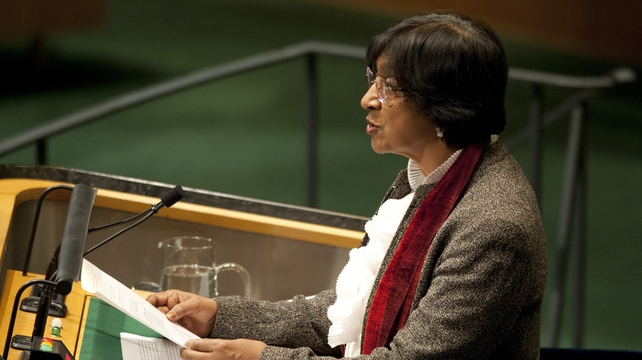 Navi Pillay told the UN General Assembly that it appeared the Syrian army had launched indiscriminate attacks