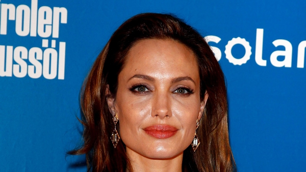 Jolie pictured in Berlin earlier this week where she won the Cinema for Peace award