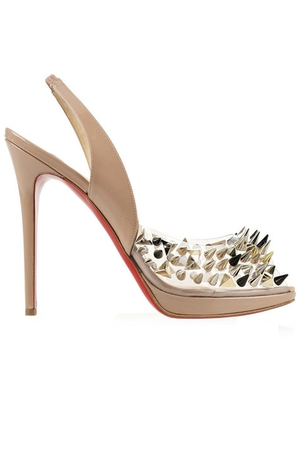 Christian Louboutin Studded Slingbacks €385 at Burnt Out But Opulent