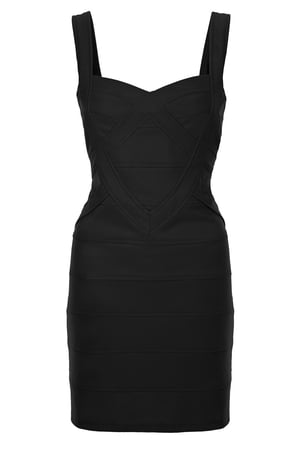 Black Body Con Dress €40 by Fashion Union