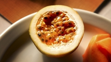 Polenta Tea Cake with Passion-Fruit Mascarpone