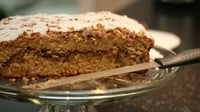 Coffee and cardamom cake - This recipe was inspired by a recent trip to An Cupan Tae in Galway. Serve with pistachio cream