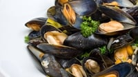 Mouclade - This traditional French dish consists of steamed mussels served in a lightly curried sauce and crusty bread.