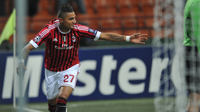 The AC Milan team followed Kevin-Prince Boateng off the field in a show of solidarity after he was subjected to racist abuse