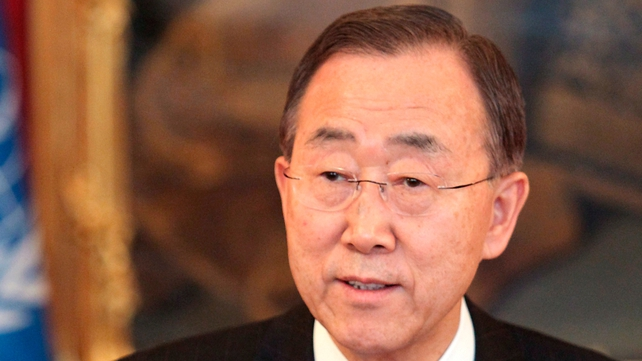 Ban Ki-Moon said Syrian authorities must stop killing their own people
