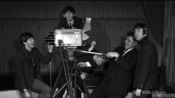 Beatles with Bill Robinson (1963) © RTÉ Stills Library 1025/007