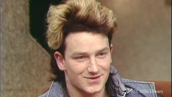 Bono on The Late Late Show, 22 January 1983