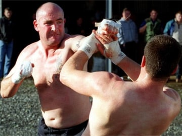 Bare-knuckle fighters in Knuckle
