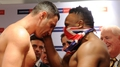 Chisora slaps Klitschko at weigh-in