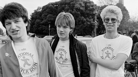 U2 at the National Milk Run (1980) © RTÉ Stills Library 2078/048