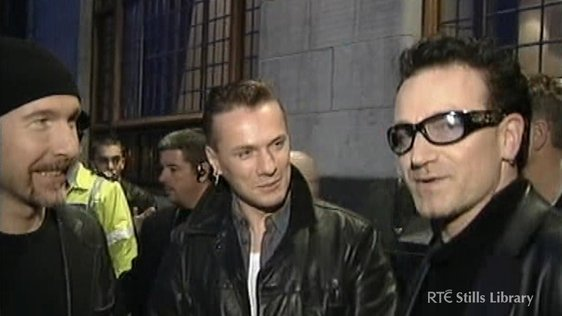 Freedom of Dublin for U2  © RTÉ Stills Library 3036/028
