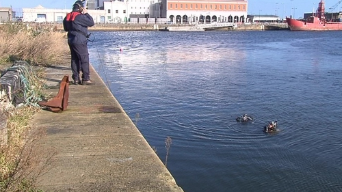 A team of divers searched the Liffey this morning