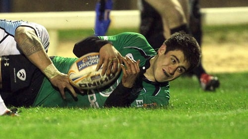 Tiernan O'Halloran was among the Connacht try scorers