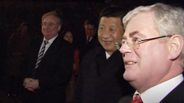Xi Jinping attends a banquet at Bunratty Castle