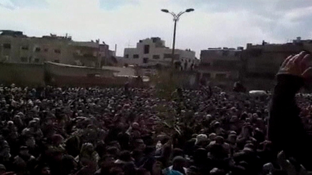 Anti-Assad protests where shootings took place