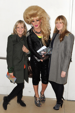 Twiggy, her daughter and Jodie Harsh
