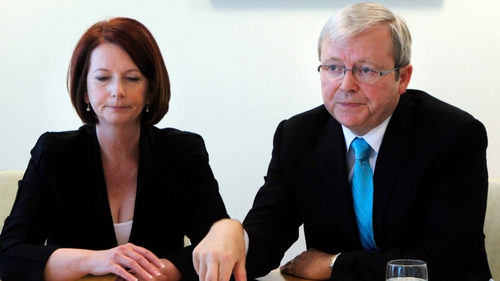 Julia Gillard ousted Kevin Rudd as prime minister in 2010