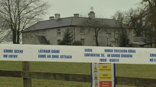 Gardaí believe a fire was set at Mr Rothwell's barns to draw him out of his house