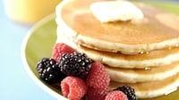 American Pancakes with a Fruit Compote - A delicious treat for breakfast or brunch.