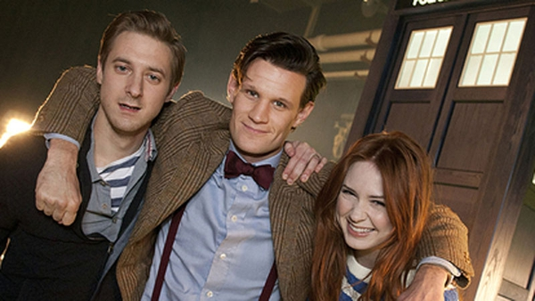 Arthur Darvill with Matt Smith and Karen Gillan during their TARDIS Time together