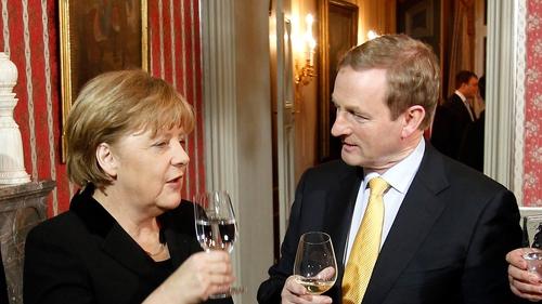 Angela Merkel and Enda Kenny had a 30-minute phone call yesterday