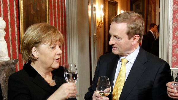 Enda Kenny said Angela Merkel was supportive of Ireland as a country that was an example to others