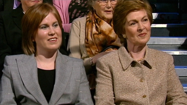 Florence Noonan (R) seen here sitting next to her daughter Deirdre (L)