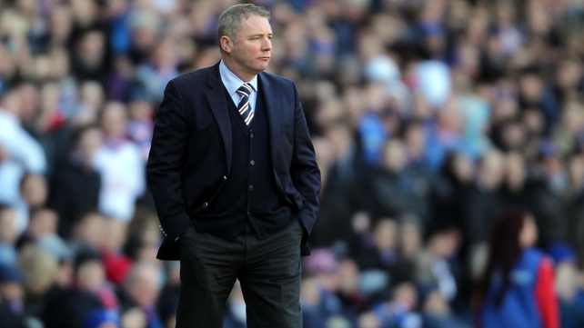 Ally McCoist said that he would never accept talk of Rangers losing the titles they won between 2001 and 2010