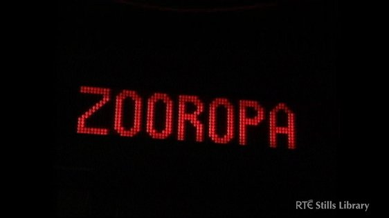 Screen for U2's Zooropa concert in Dublin © RTÉ Stills Library 3036/043